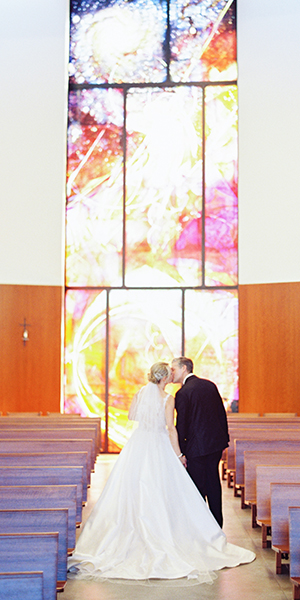 Joyful Fall Church Wedding