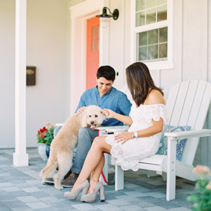 Front Porch Engagement Shoot in Arcadia