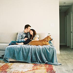 Intimate At Home Engagement Shoot in Phoenix, Arizona