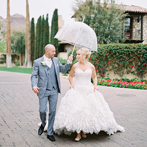 Rainy Day Scottsdale Wedding at Montelucia