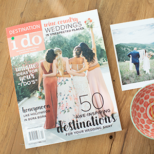 Our wedding featured in Destination I Do Magazine