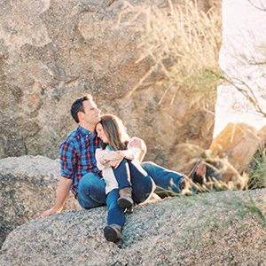 Joe & Liz -- Boulders Engagement Shoot