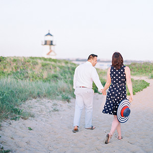 Justin + Mary -- Nantucket Beach Photos
