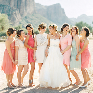 3 Rules for Mix and Match Bridesmaids Dresses