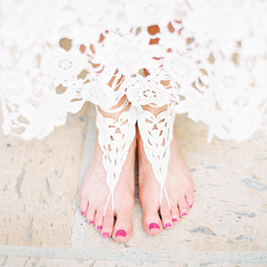 Bohemian wedding featured on Ruffled Blog