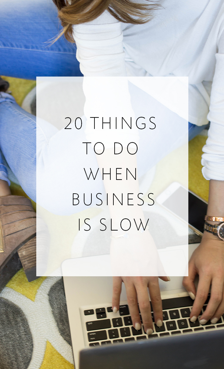 20 Things For Photographers To Do When Business Is Slow