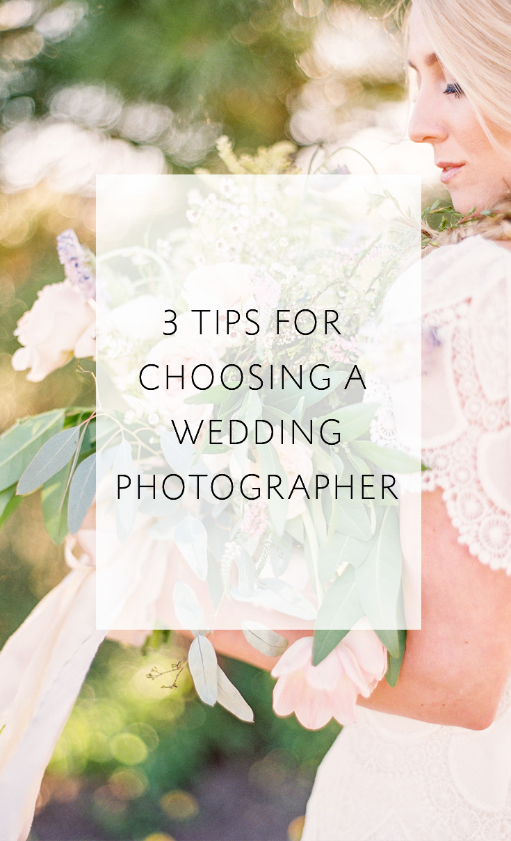 3 Tips For Choosing a Wedding Photographer