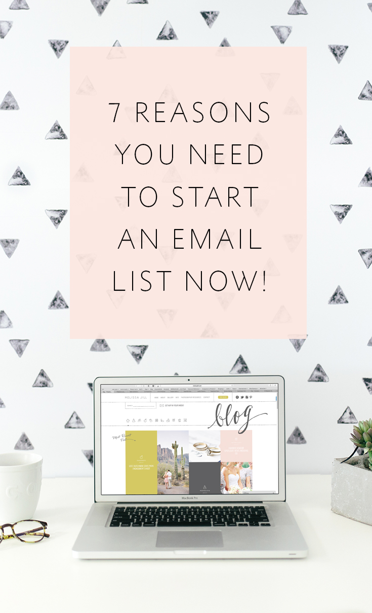 7 reasons every business owner -- especially photographers -- should start an email list STAT!