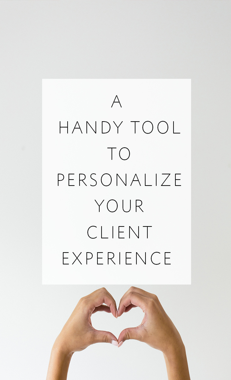 A handy tool to help photographers personalize their client experience