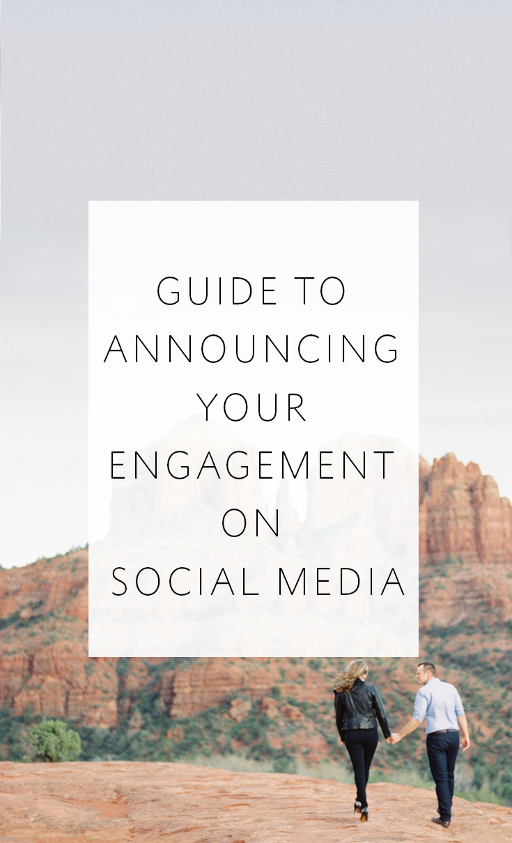 Tips and suggestions for how to announce your engagement on social media