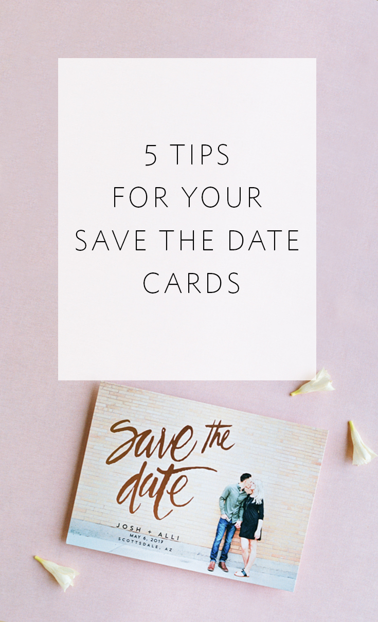 Helpful tips for the save-the-dates for your wedding