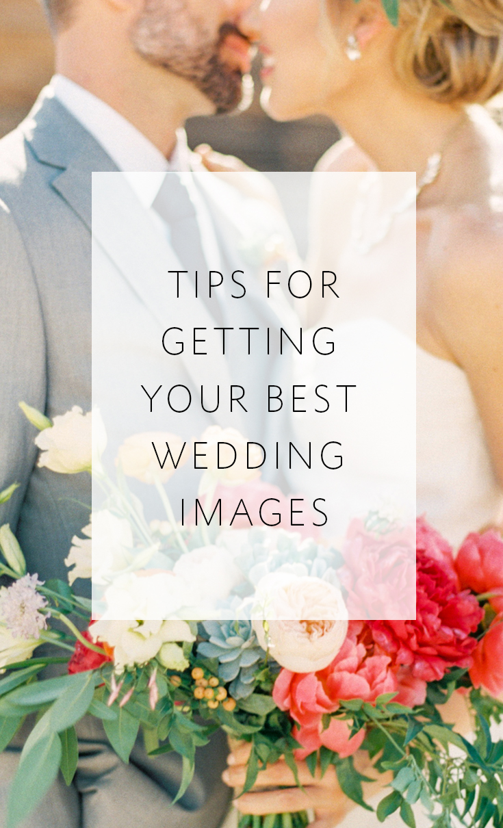 4 tips to get the best wedding photos you can!