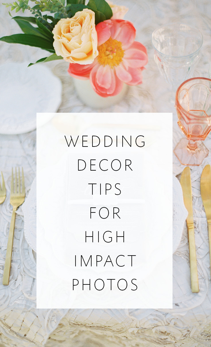 Make your wedding decor stand out in photos!