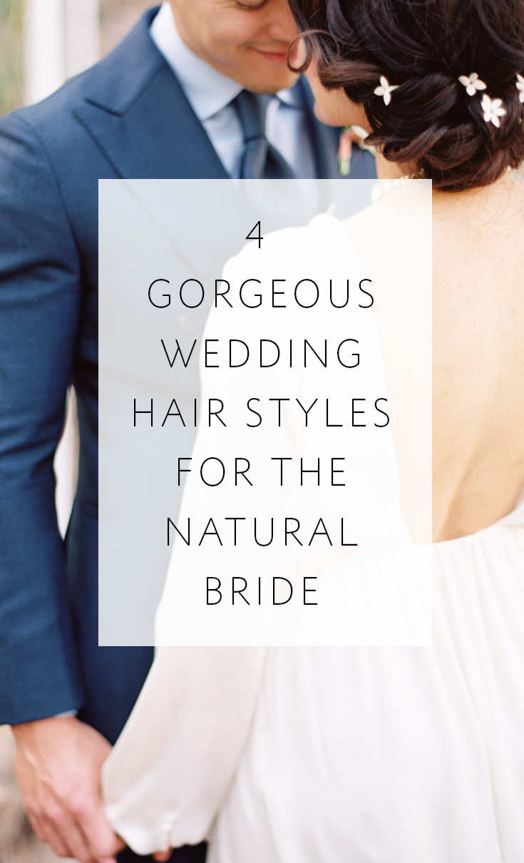 These 4 core hairstyles have endless possibilities for your wedding look!