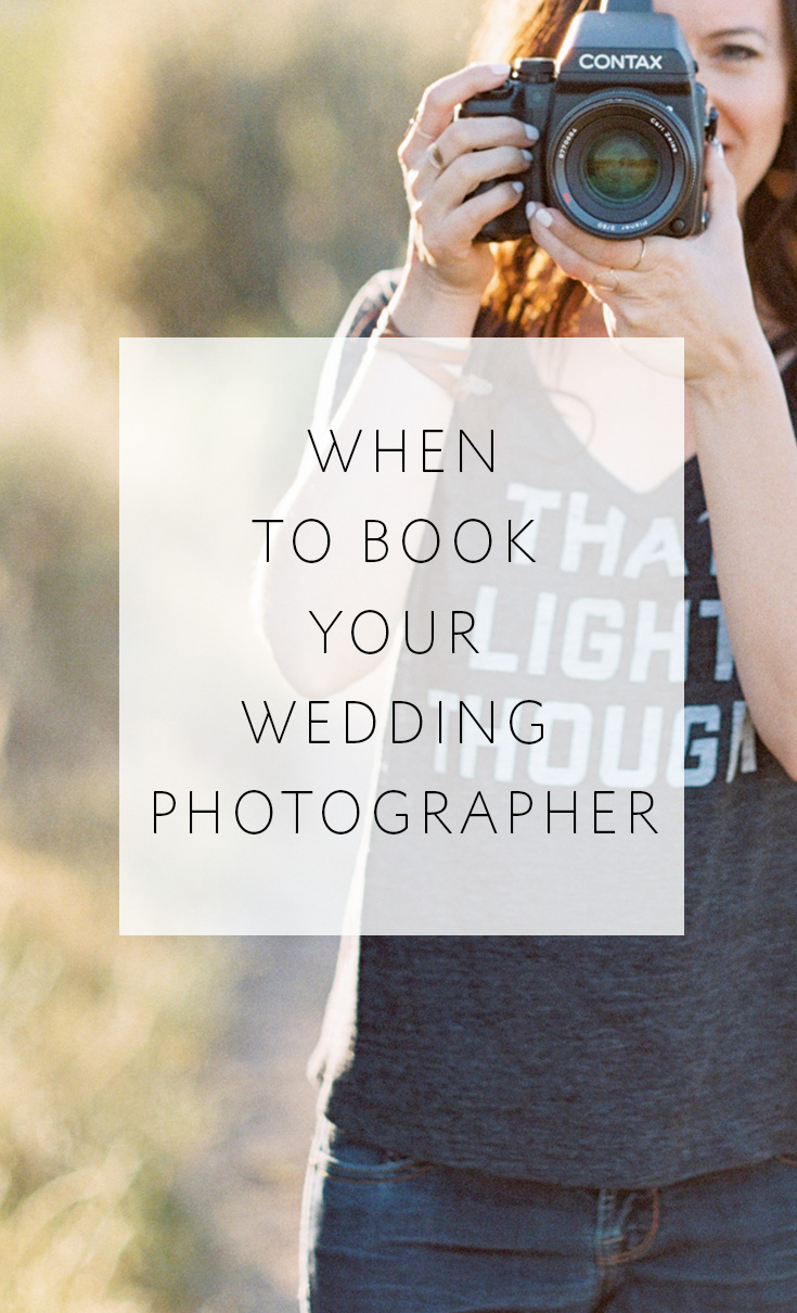 3 things to consider when planning how soon to book your wedding photographer