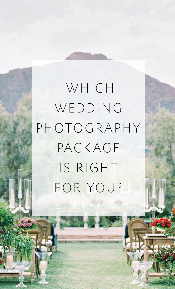 5 tips to help you choose the photography package that's right for your wedding
