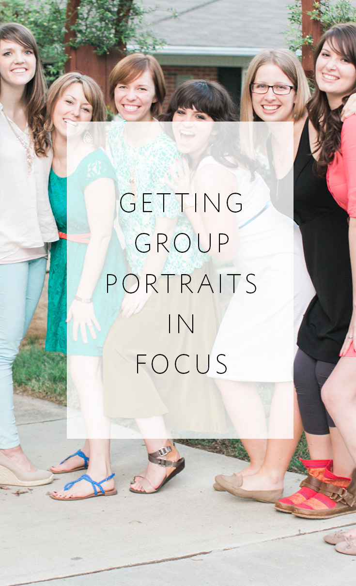 How to photograph group portraits that are in focus