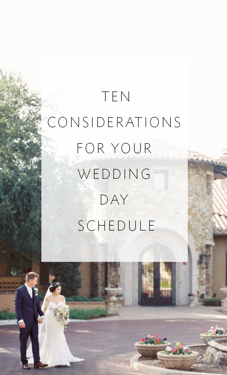 Ten things that will impact your wedding day schedule