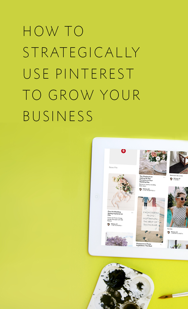 Melissa Jill's 4-prong Pinterest strategy that has grown her website traffic AND bookings!